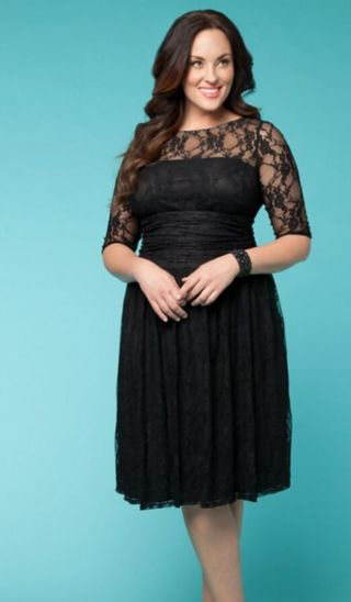 *Stunning* Plus Size 18W *Black Lace Special Occasion Dress *