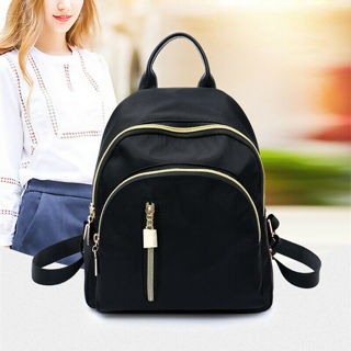 Women Small Backpack Travel Nylon Handbag Shoulder Bag Black Gifts Fashion