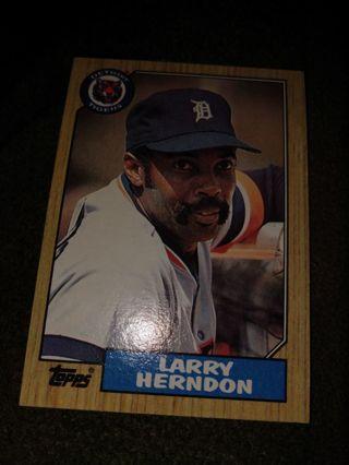 Baseball Card - Larry Herndon 1987