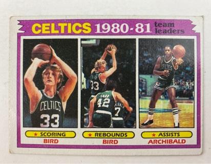 ✯1980-81 Topps Basketball Larry Bird Team Scoring Leader card #45 Boston Celtics ~ FREE SHIPPING✯