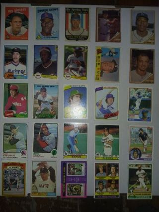 1950's 60's 70's and early 80's 21 day progressive baseball card auction.
