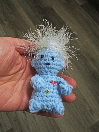 Wild Troll Plushie. New. Crocheted by Me
