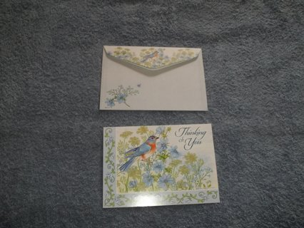 a pretty Thinking of You card/envelope