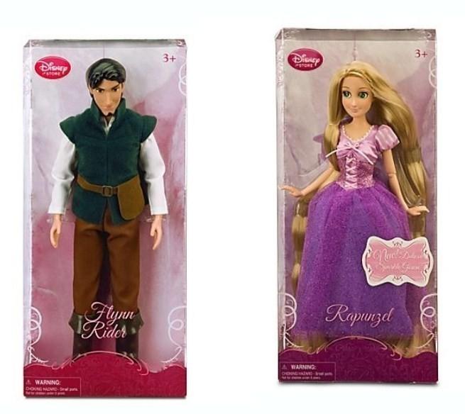 free disney store tangled rapunzel flynn rider 12 barbie dolls new dolls stuffed animals. Black Bedroom Furniture Sets. Home Design Ideas