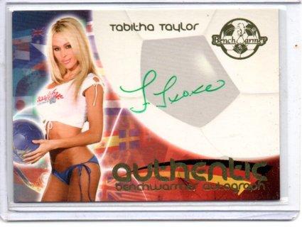 2006 Benchwarmer Tabitha Taylor World Cup Autograph