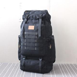 2020 60L Large Military Bag Canvas Backpack x1 Black