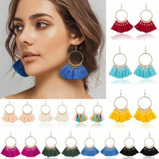 SUPPER COOL Fashion Women Bohemian Earrings Boho Long Tassel Fringe Dangle Earrings Jewelry