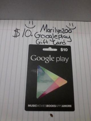 $10.Google Play Gift Card