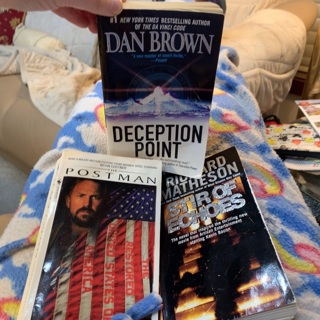 Vintage Fiction Books Lot: Deception Point, The Postman (Sci Fi) & Stir of Echoes (Horror)