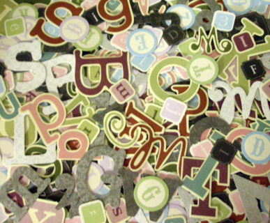 Free Large Lot Cardstock Punch Out Letters Alphabet Scrapbook Paper