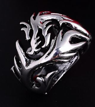 1 NEW Dragon Clan SILVER Tone Ring .925 Sterling Silver Plated Mens Gift Jewelry