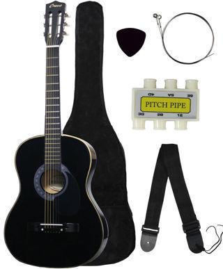 Brand New!! Acoustic Guitar+GIGBAG+STRAP+TUNER+LESSON low gin!