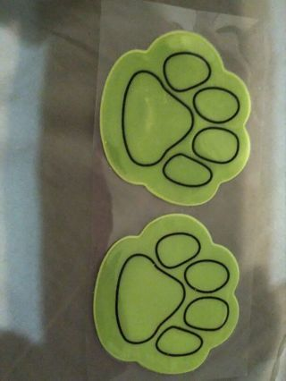 Paw reflector stickers