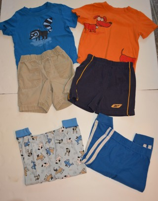 Toddler Boy Clothes Size 24 Months 6 Piece Summer Fall  Pj Bottoms Pants Shorts Shirts