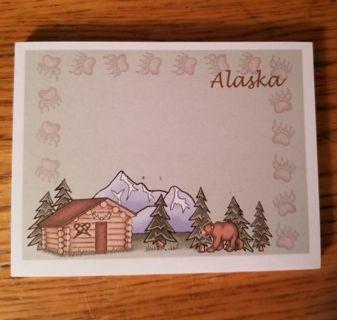 Alaska note sticky note pad