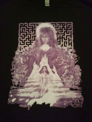 1 Labyrinth Adult T-Shirt XL FREE SHIPPING
