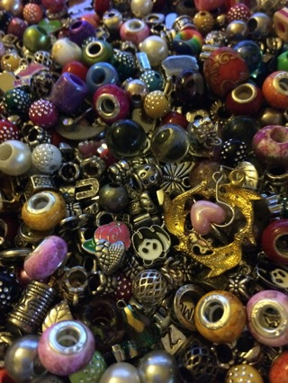 FAST & FURIOUS DESTASH OF 500 EURO CHARMS/SPACERS GREAT MIX SOME EURO'S MARKED 925 CORES