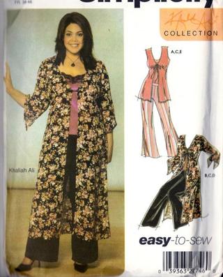 Free Simplicity 5075 Khalelah Ali Designer Cami Pants Duster