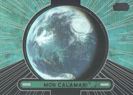 Star Wars Galactic Files Topps 2013 Collectible Card Mon Calamari #697