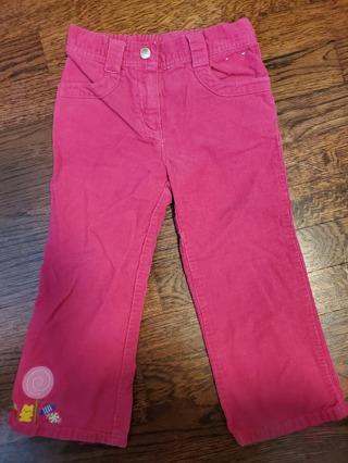 EUC - Gymboree - girls pink corduroy pants - size 3T