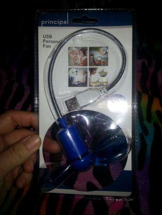 New blue USB Personal Fan....