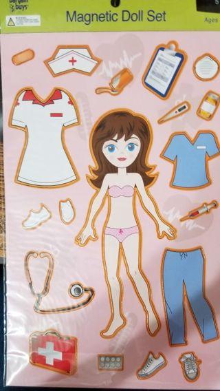 Miss Nurse Magnetic Doll