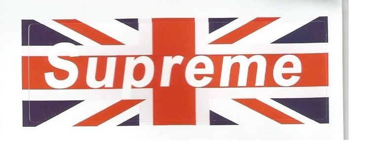 New uk flag supreme sticker free shipping