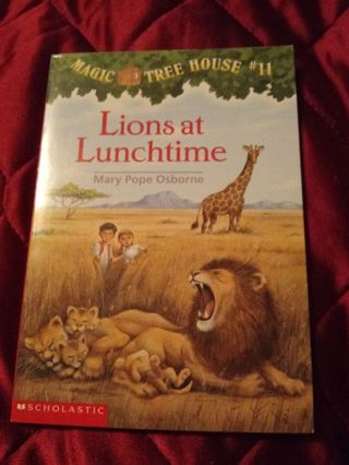 Used Magic Tree House Book Lions at Lunchtime