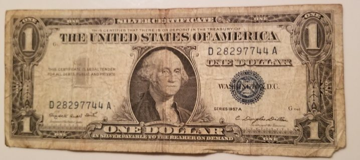 1957 USA 1 Dollar Silver Certificate