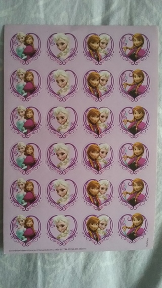 Disney Frozen stickers 1 sheet