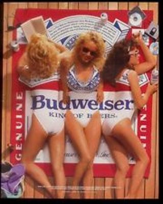 24900110e8976 Free  Budweiser Vintage French Cut One Piece Swimsuit - Women s ...
