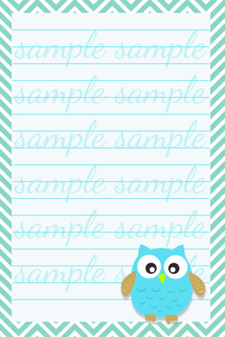 Free 3 Owls 4x6 Printable Notepads Scrapbooking Paper Crafts