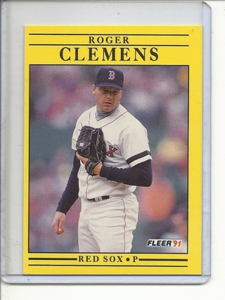 (B-3) 1991 Fleer #90: Roger Clemens