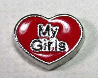 ღƸ̵̡Ӝ̵̨̄Ʒღ Love My Girls Heart ღƸ̵̡Ӝ̵̨̄Ʒღ Living Locket Charm ☆VERIFIED USERS ONLY PLEASE☆
