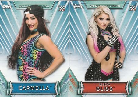 WWE Womens Division 2019 ~ Two Card Lot ! Alexa Bliss, Carmella