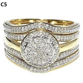 WOMAN'S WEDDING SET size 8=free shipping