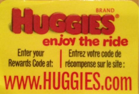 2 Huggies Enjoy the Ride codes