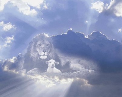 FREE O Lion And Lamb In Clouds Cross Stitch Needlepoint Or Needlework