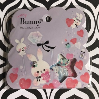 ➡️ Merry Bunny Kawaii Sticker Flakes Sack BRAND NEW ⬅️
