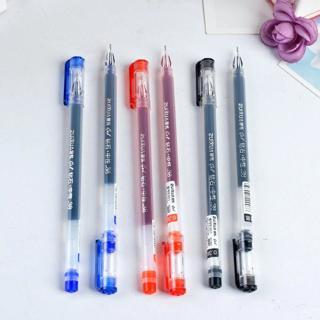 6 Pcs Neutral Pen Large Capacity 0.38 Creative Lovely Transparent Gift Pen Caneta Gel Supplies Kaw