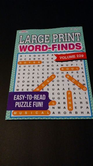 Large Print Word Find