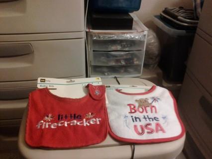 Set Of 2 Baby Bibs BNWT