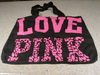 Victoria Secret Love Pink Tote Bag In And Black