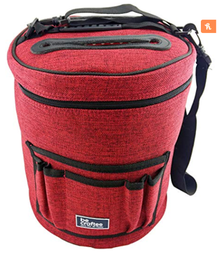 BeCraftee Best Knitting Bag for Yarn Storage. Portable, Light and Easy to Carry
