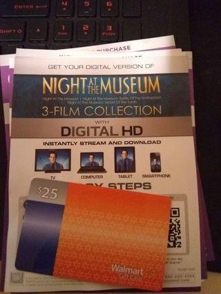 Night at the museum 3 film uv code