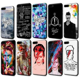 Panic At The Disco David Bowie Black TPU Case for iPhone XS Max X 8 7 6s Plus