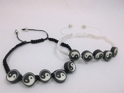 NEW Yin Yang - 2 Matching Bracelets - Ying Yang