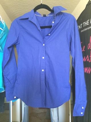Gap Royal Blue Dress Shirt Size 6