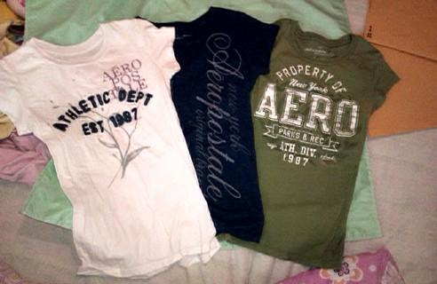 3 Aeropostale shirts - Size Small