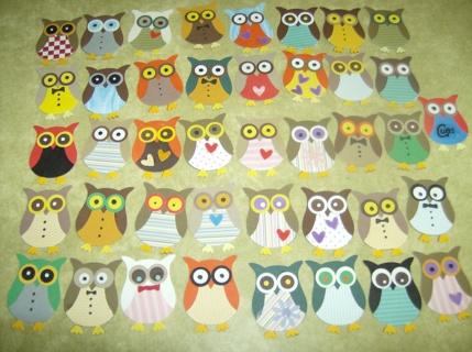 *6* Cardstock Owls